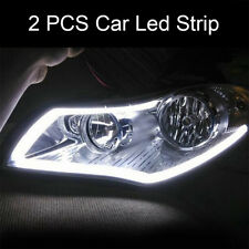 2x Tube Blanc 60cm LED Lampe Lumière Eclairage Phare Flexible DRL Voiture