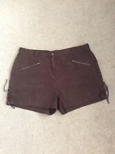 Ladies Brown Cotton (George) Shorts Size 16