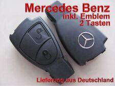 Mercedes Benz Schlüssel Gehäuse Fernbedienung Emblem Logo Ersatzgehäuse 2 T NEU