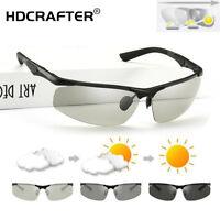 Men's Aluminum Photochromic Polarized Sunglasses Outdoor Driving Sport Glasses