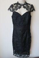 Lipsy Dress Black Size 10