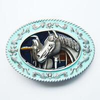 Men belt Buckle Horse Head Western Belt Buckle Gurtelschnalle Boucle de ceinture
