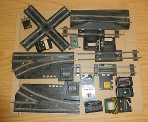 AMERICAN FLYER S GAUGE TRACK LOT SWITCHES CROSSOVER GRADE CROSSING BUTTONS AF