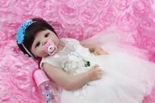 "22"" Full Body Silicone Reborn Baby Doll Soft Vinyl Newborn Baby Princess Toddler"