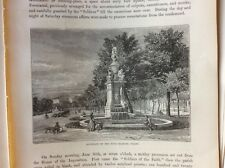 J1j placa de libro de materiales efímeros Victoriano 1874 Madrid fuente de las cuatro estaciones Prado