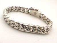 """Taxco Mexican 925 Sterling Silver Curb Chain Bracelets. 7.5""""(19 cm)/8""""(20.5 cm)"""