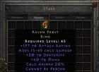 Diablo 2 Resurrected D2R  - Raven Frost 20 Dex | PC SC EU/NA/Asia