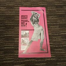 1963 Please Not Now Brigitte Bardot Advertising Pink Brochure Flyer