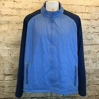 Peter Millar Mens Quilted Water Resistant Liberty Blue Long Sleeve Jacket XL