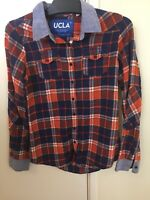UCLA Long Sleeve Button Flannel Shirt Authentic Collegiate Wear Size Medium