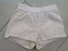 Girls Cream Shorts, XS/ Age 4-5 Years - Slim Fitting