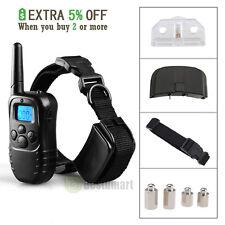 300 Yard LCD 100LV Level Shock Vibra Remote Pet Dog Training Collar Waterproof