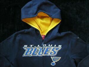 ST LOUIS BLUES Hockey Reebok Hoodie Jacket YOUTH Size XL (18) BOYS Hooded ZIP