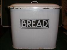Genuine 1920's Enamel Bread Bin & original lid. Relatively good condition.