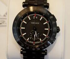 Versace Men's Watch with 42mm Black Chronograph FaceSteel & Black Breclet