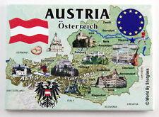 "AUSTRIA EU SERIES FRIDGE COLLECTOR'S SOUVENIR MAGNET 2.5"" X 3.5"""