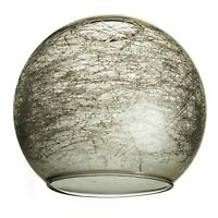 """Smoked Glass Lampshades. Fits Next """"Lana"""" 3-Light Ceiling Lamps (crackle orb)"""
