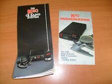 Vintage K40   CB Radio Antenna Radar Brochures !  / f8