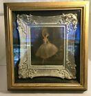 Vintage Framed Picture of Dancing Ballerina