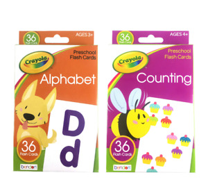 Crayola 36 Count Preschool Learning Flashcards for Kids Alphabet & Counting Pack