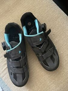 Women's Louis Garneau Jade Cycling Shoes, Blue/Black, Size 42