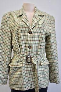 ANN Taylor Beige Multicolor Wool Blend Women's Jacket/Blazer Size 6 On Sale