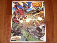 1983 GI JOE / ACTION FORCE FOLDOUT POSTER 'THE BATTLE HAS JUST BEGUN' - PALITOY