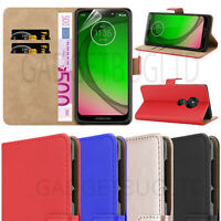 CASE FOR MOTO G7 POWER REAL GENUINE LEATHER SHOCKPROOF WALLET FLIP COVER