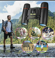 30x60 Compact Foldable Binocular Roof Prism Pocket With Carry Case Camping NEW!