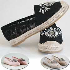 Women's Ladies Flats Espadrilles Slip On Summer Pumps Loafers Holidays Shoes