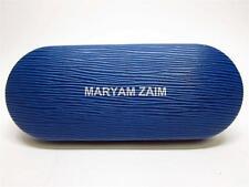 MARYAM ZAIM blue textured eyeglass case - EUC