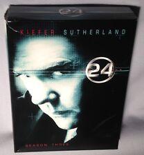 DVD 24 SEASON THREE (3) COMPLETE 7 Disc BOX SET NEAR MINT
