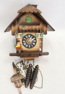 Vintage WESTERN GERMAN Wooden CUCKOO Clock Spares & Repairs - C62