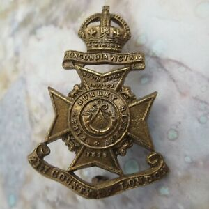 The 21st County of London Battalion 1st Surrey Rifles British Army Hat/Cap Badge