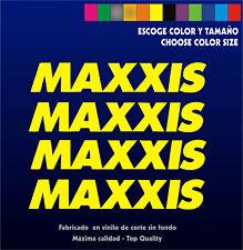 4 x Sticker Vinilo - MAXXIS - Pegatina Vinyl Aufkleber Bike Bici MTB Sponsor