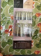 Floral Print Curtains Boutique 2 Rod Pocket Cafe Set Green Tangelo Park B Smith