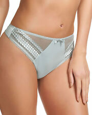 FANTASIE REBECCA THONG SIZE 8 10 12 14 16 CRYSTAL GREY SILVER LACE KNICKERS 2027