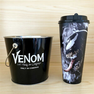 Venom 2 Let There Be Carnage Movie Cup & Popcorn Tin Bucket Exclusive Theater