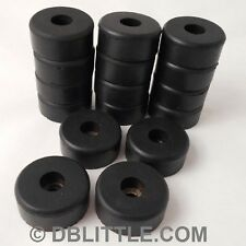 """16 Hard Black 1.5"""" x 0.63"""" Rubber Feet for Guitar Amps, Combos, Speaker Cabinets"""