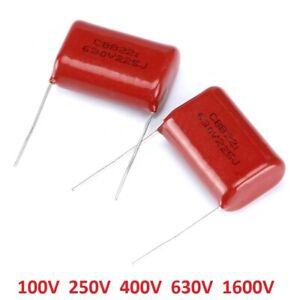 CBB Capacitors 100V/250V/400V/630V/1600V Polyester Film Capacitor-Various Values