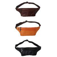 Men's Leather Waist Packs Shoulder Bag Crossbody Zipper Sling Handbag Satchel