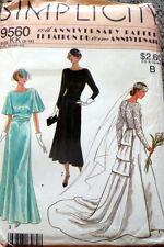 RETRO 1920s 30s WEDDING DRESS SEWING PATTERN 6-8-10-12-14 UC