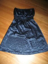 LADIES CUTE BLUE SHINEY POLYESTER STRAPLESS DRESS BY ICE SIZE S - AUS 8/10 CHEAP