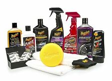 Complete Car Care Kit Meguiars Detailing Interior Headlights Shine Towels Auto