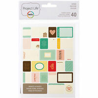 Becky Higgins PROJECT LIFE HOME 40-PACK Themed Cards scrapbooking 97712