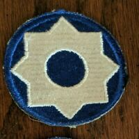 WWII US Army 8th Service Command Ground Forces Military Patch WW2, NEW  Vintage