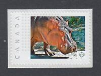 HIPPO = HIPPOPOTAMUS = stamp MNH  Canada  2014 [pp9an6/3]