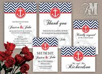 Personalised Wedding Evening Day Nautical Invitations
