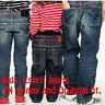 GIRLS BOYS JEANS EX ESPRIT SKINNY AND ORIGINAL DENIM SIZE 2 TO 14 YEARS BLUE