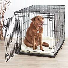 "Indoor Folding Cage Crate Kennel Large Pet Dog Single-Door Metal Portable 42x28"""